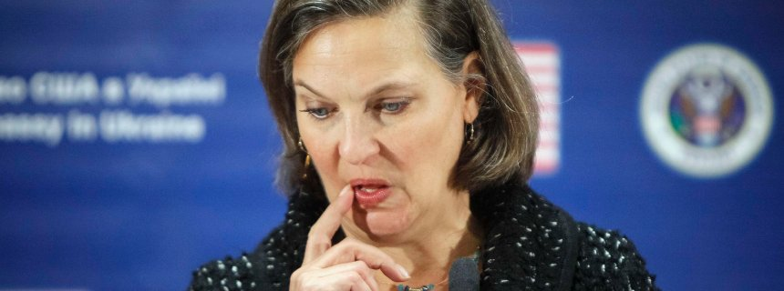 U.S. Assistant Secretary of State Victoria Nuland attends a news conference at the U.S. embassy in Kiev